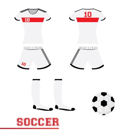 some: Isolated sport uniform and some soccer elements Illustration