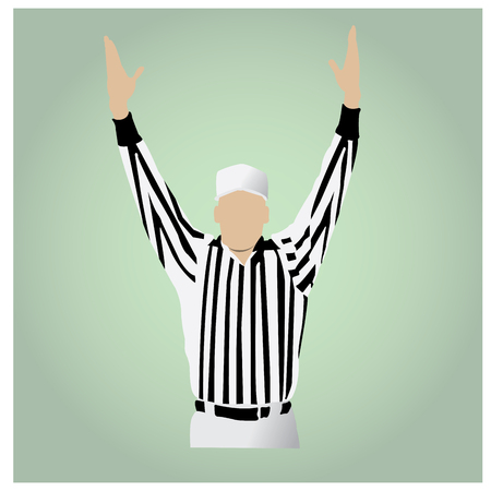 football referee: Isolated football referee on a colored background