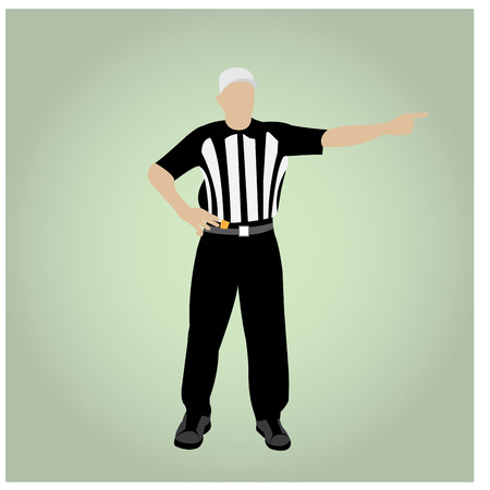Isolated football referee on a colored background