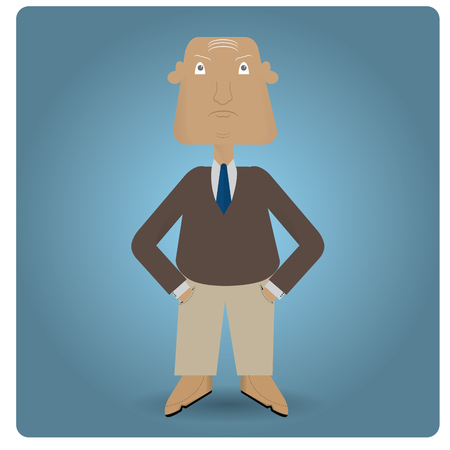 handsome: Isolated handsome businessman on a colored background