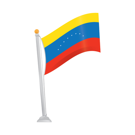 venezuelan: Isolated venezuelan flag on a white background