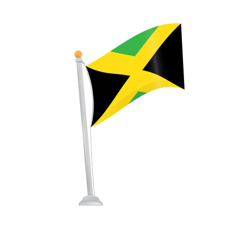 jamaican: Isolated jamaican flag on a white background
