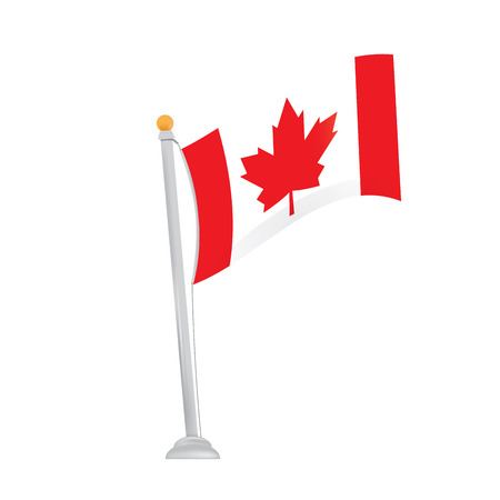 canadian flag: Isolated canadian flag on a white background
