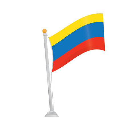 colombian: Isolated colombian flag on a white background Illustration