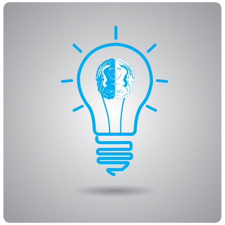 conceptual: Isolated conceptual lightbulb on a grey background Illustration