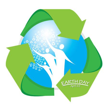 reciclable: gota azul aislado el símbolo ser reciclados para el día de la Tierra Vectores