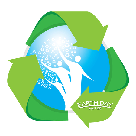 recyclable: Isolated blue drop with the recyclable symbol for Earth day