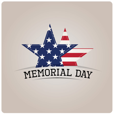 a memorial to fallen soldiers: Pair of stars and text on a grey background for memorial day