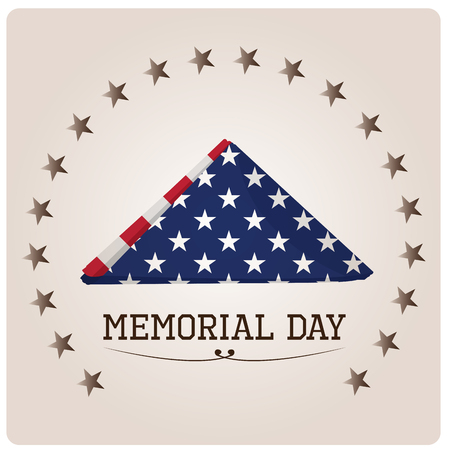 a memorial to fallen soldiers: Isolated napkin with the american flag on a grey background with stars for memorial day