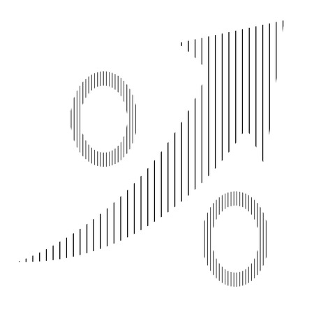 percentual: Isolated percentual symbol with a texture and an arrow