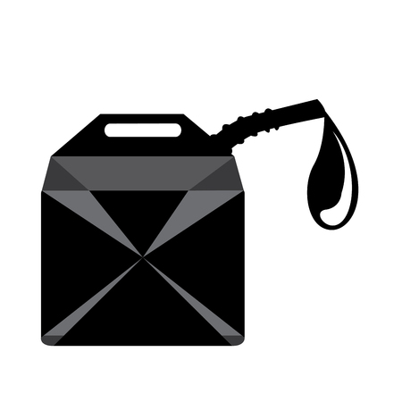 gallon: Isolated oil gallon on a white background Illustration