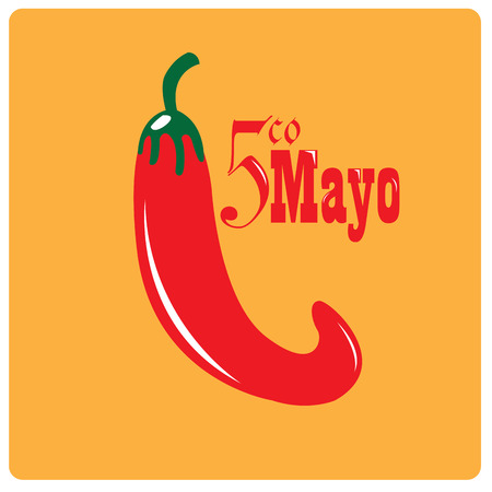 commemorate: Isolated pepper on a colored background with text Illustration
