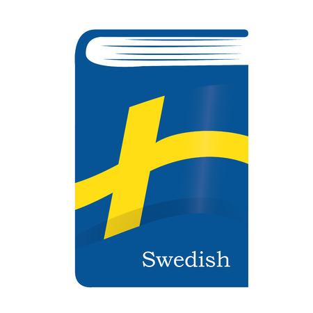Isolated dictionary with the swedish flag and text Vektoros illusztráció