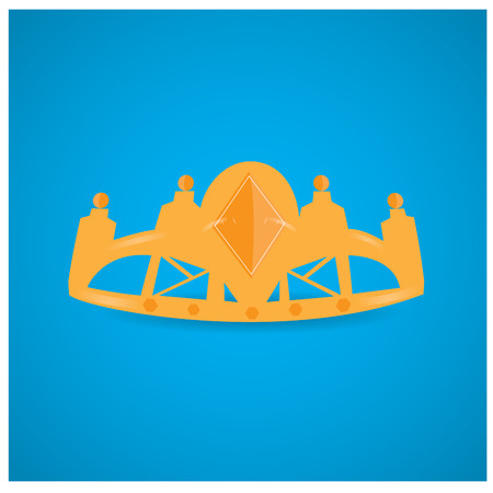 royal background: Isolated royal crown on a blue background