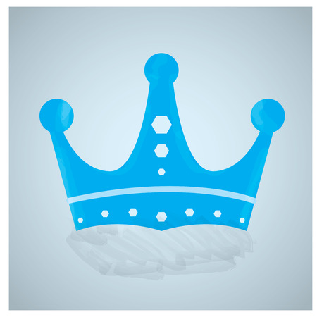 crown of light: Isolated royal crown on a light blue background