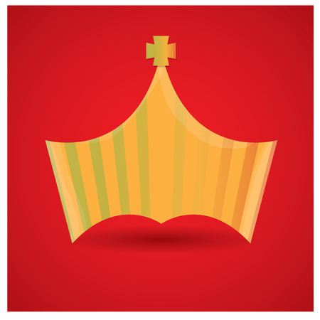 british culture: Isolated royal crown on a red background