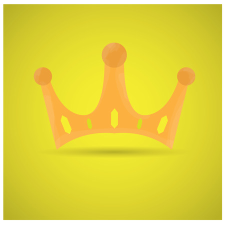 british culture: Isolated royal crown on a yellow background