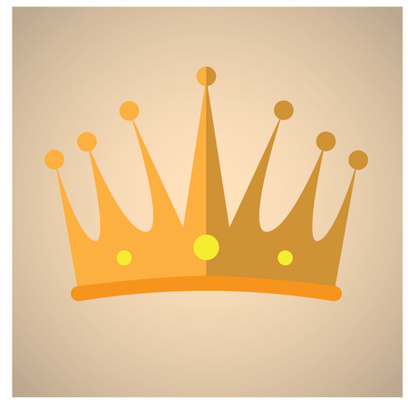crown of light: Isolated royal crown on a light pink background Illustration