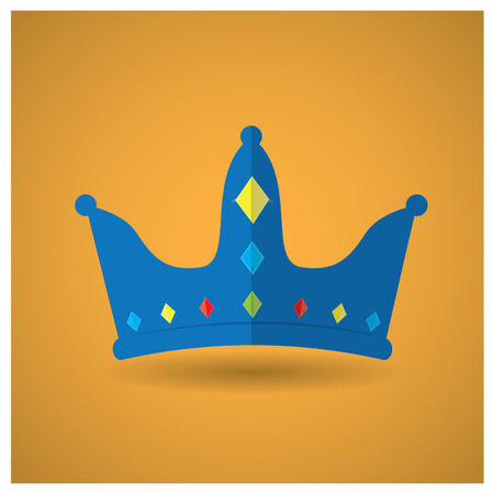 royal background: Isolated royal crown on a yellow background