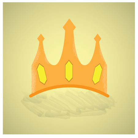 crown of light: Isolated royal crown on a light yellow background