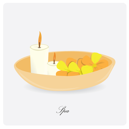 group therapy: Isolated group of flowers and a pair of candles on a white background