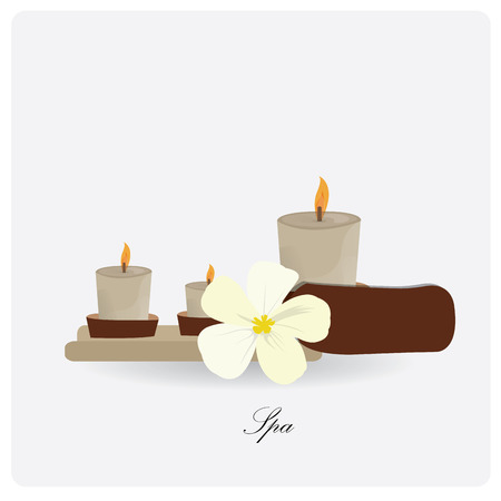 group therapy: Isolated group of candles and a flower on a white background with text