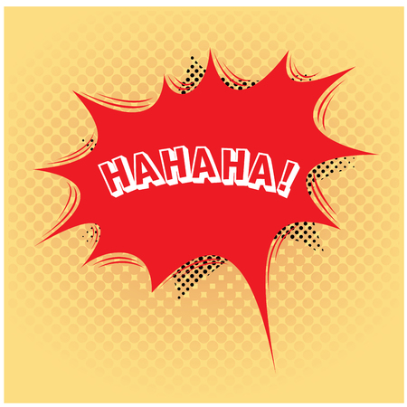 onomatopoeia: Light yellow textured background with an isolated comic expression