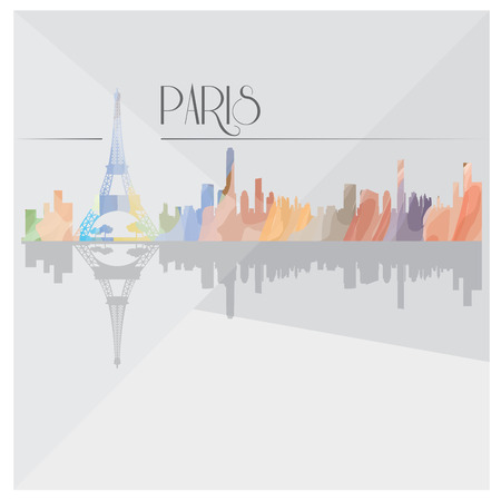 metropolis image: Isolated textured cityscape of Paris on a grey background