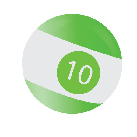 billiard ball: Isolated billiard ball on a white background