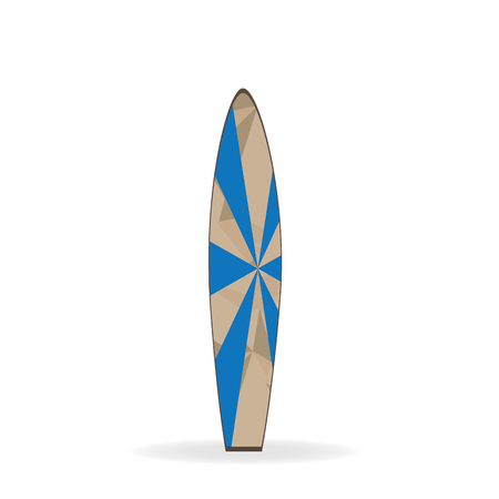 striped texture: Isolated surfboard with a striped texture on a white background Illustration