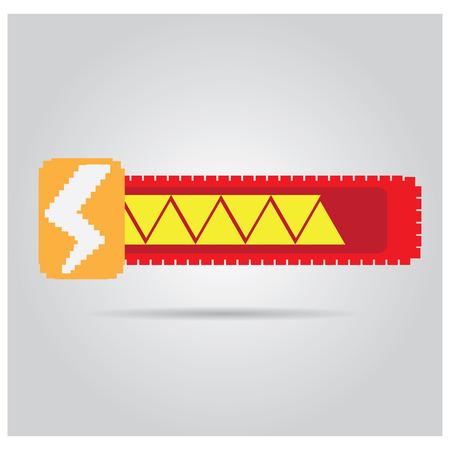 energy bar: Isolated energy bar with a thunder icon on a grey background Illustration