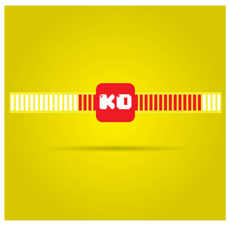 video icons: Isolated pair of health bars on a yellow background