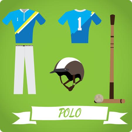 polo ball: Polo objects, Sport uniform, Vector illustration