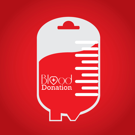 transfuse: Isolated bag with text, Blood donation, Vector illustration Illustration