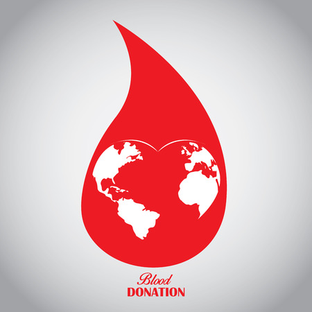 Isolated drop shape, Blood donation, Vector illustration Illustration