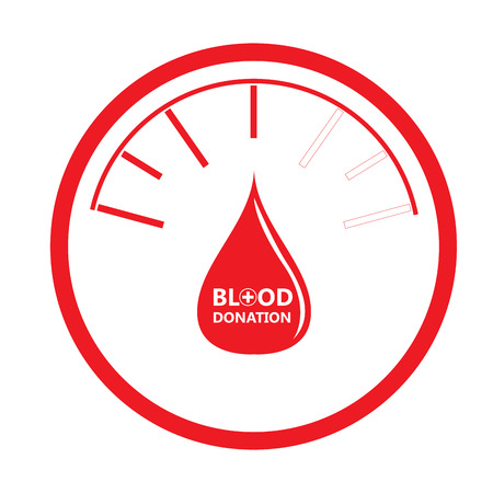 transfuse: Isolated drop shape, Blood donation, Vector illustration Illustration