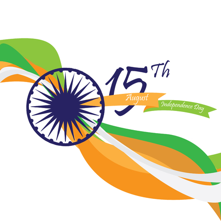 Independence day of India, Vector illustration Illustration