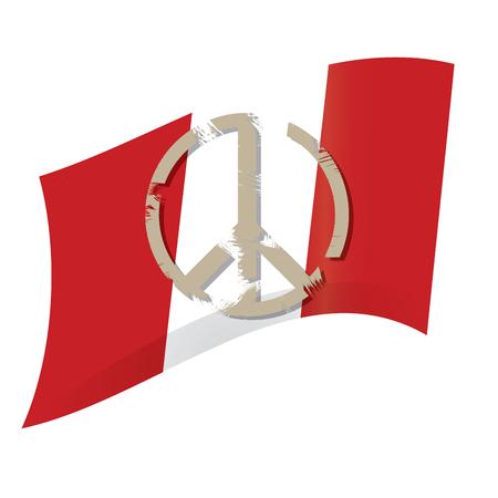 peruvian: Isolated peace symbol, Peruvian flag, Vector illustration Illustration