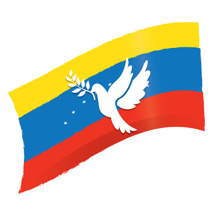 venezuelan: Isolated Venezuelan flag, Conceptual peace, Vector illustration