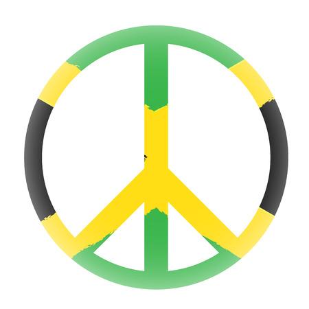 jamaican flag: Isolated jamaican flag, Conceptual peace, Vector illustration