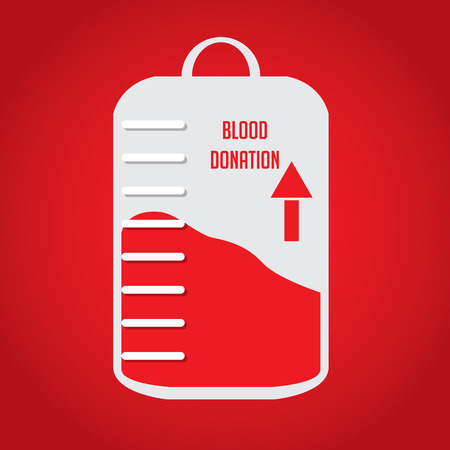 transfuse: Blood donation, Vector illustration
