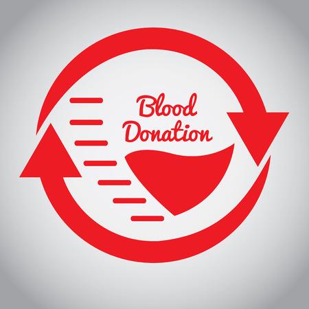 transfuse: Pair of arrows, Blood donation, Vector illustration Illustration