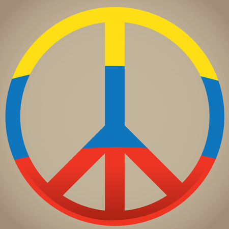 colombian flag: Isolated peace symbol, Colombian flag, Vector illustration