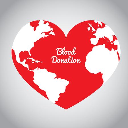 Isolated heart shape, Blood donation, Vector illustration