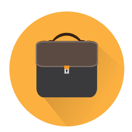office supply: Isolated suitcase, office supply, Business icon, Vector illustration