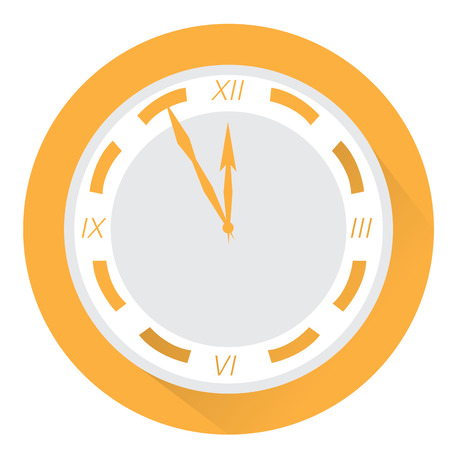 office supplies: Isolated clock, Office supplies, Business icon, Vector illustration