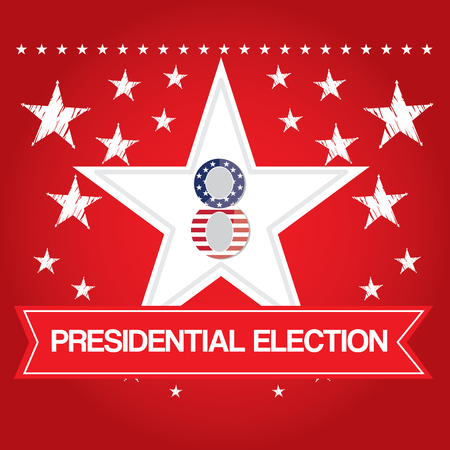 election day: Group of stars with text, Election day, Vector illustration Illustration
