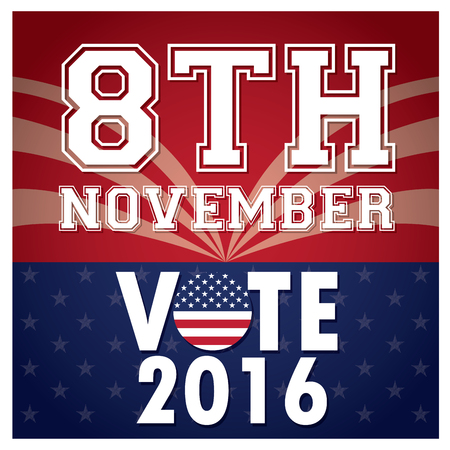 election day: Background with text, Election day, Vector illustration