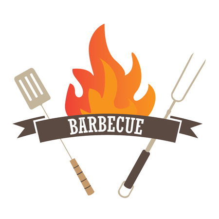 Isolated barbecue label, Vector illustration