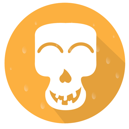 Isolated halloween icon on a stamp, Vector illustration
